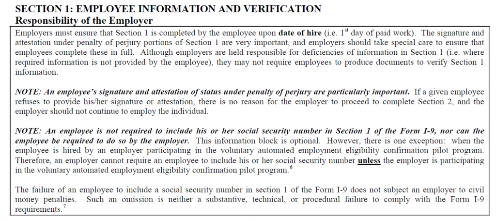 Social Security Numbers are not required for employment Do Not